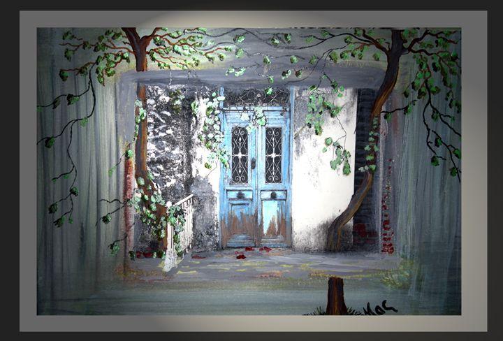 Blue door - Artwork by Maggie
