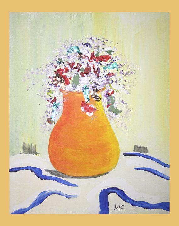 Yellow Vase - Artwork by Maggie