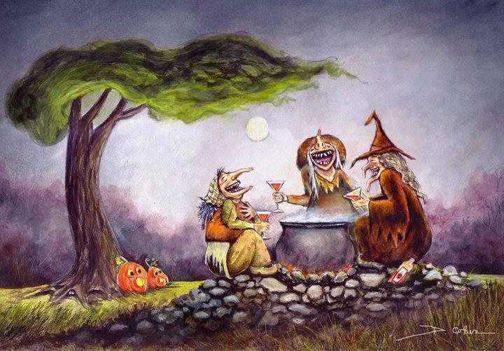Pumpkintinis - Spooky Moon Art
