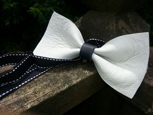 Handmade Leather Bowtie