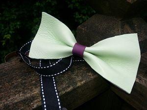 Handmade Leather Bowtie - AJH Leather