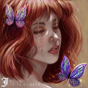 The Blind Redhead girl