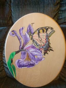 Tiger Swallowtail on Iris
