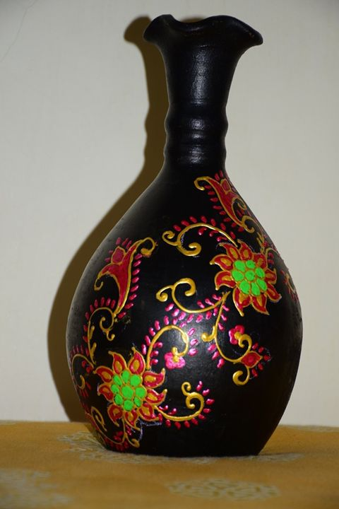 Colorful Black - Decorative Pots