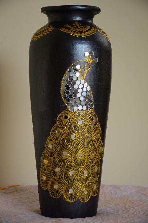 Golden Peacock - Decorative Pots