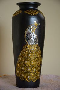 Golden Peacock - Decorative Pots