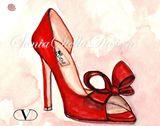 Signed Valentino Pump Fashion Print
