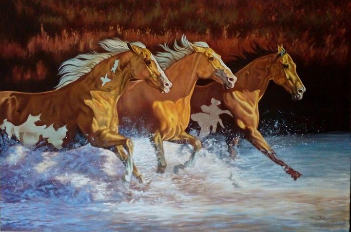 Running Horses on Sea Water - Fairways