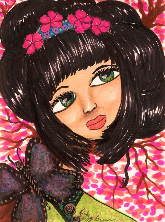 Cherry Blossom Doll - Debra Brewer Art Gallary