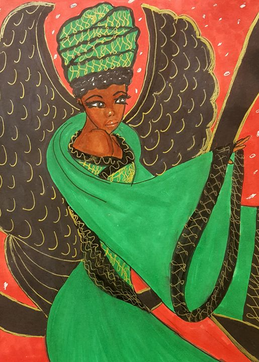 Jamacian Princess Angel - Debra Brewer Art Gallary