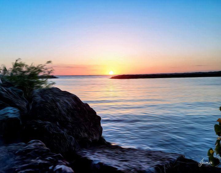 Sunset by the Rocks - JSJ Designs Studio