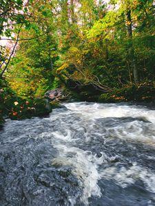 On Top of Rushing Waterfall - 5