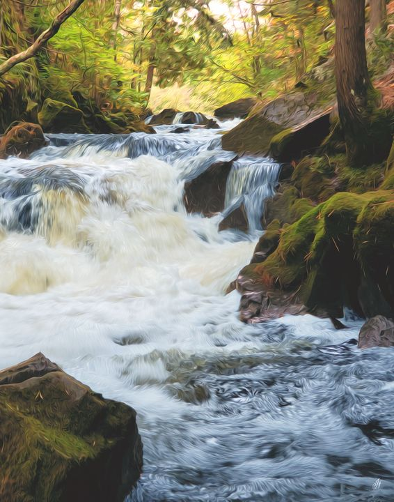 Soft Rushing Waterfall - 7 - JSJ Designs Studio