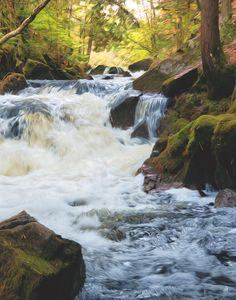 Soft Rushing Waterfall - 7