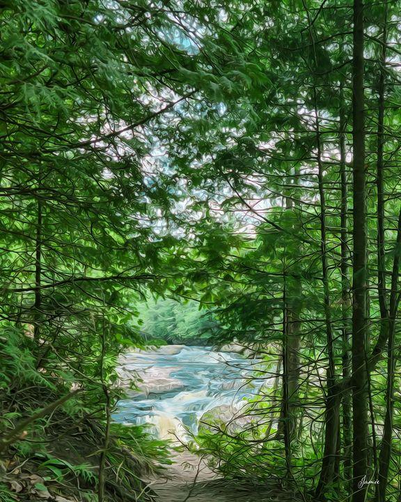 Falls Through Trees - JSJ Designs Studio