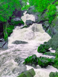 Wild Emerald Falls