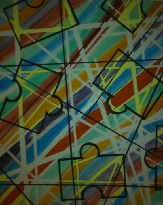crossed wires - maria axon paintings