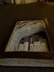 Skyline book carving