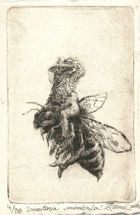 """Tiny Ride"" - Renan Santos Etching, drypoint and burin"