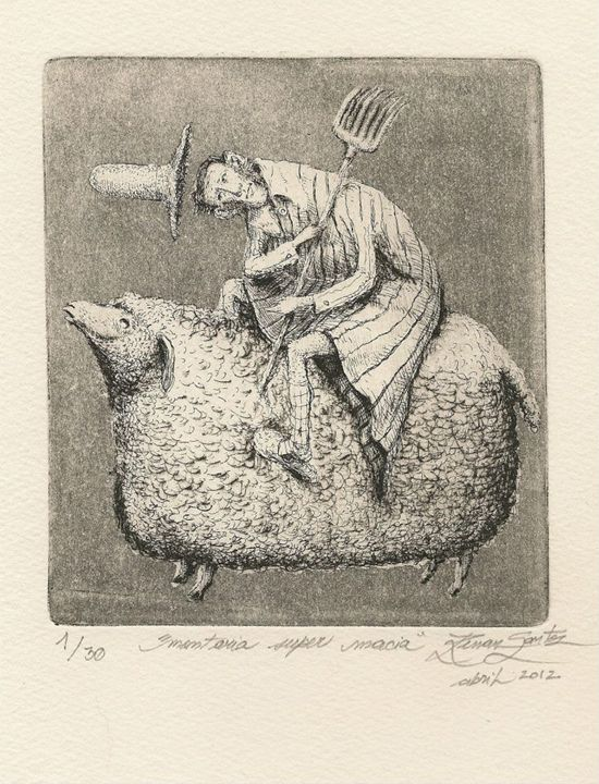 """Super soft ride"" - Renan Santos Etching, drypoint and burin"