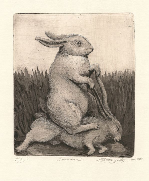 """Ride"" - Renan Santos Etching, drypoint and burin"
