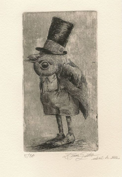"""""""title less"""" - Renan Santos Etching, drypoint and burin"""