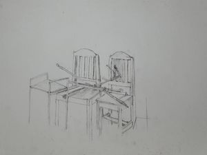 Stand on two chairs