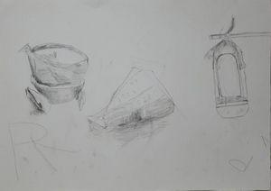 Bowl, flesh and lamp