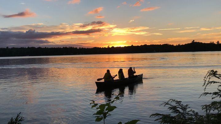 Summer Camp Sunset - Art by Autumn