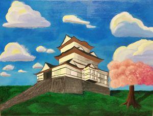 Odawara Castle in Spring