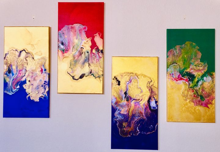 Metallic Golden Kiss Collection - Moment 2 Moment Art Studio