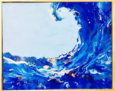 Blue Wave - Moment 2 Moment Art Studio