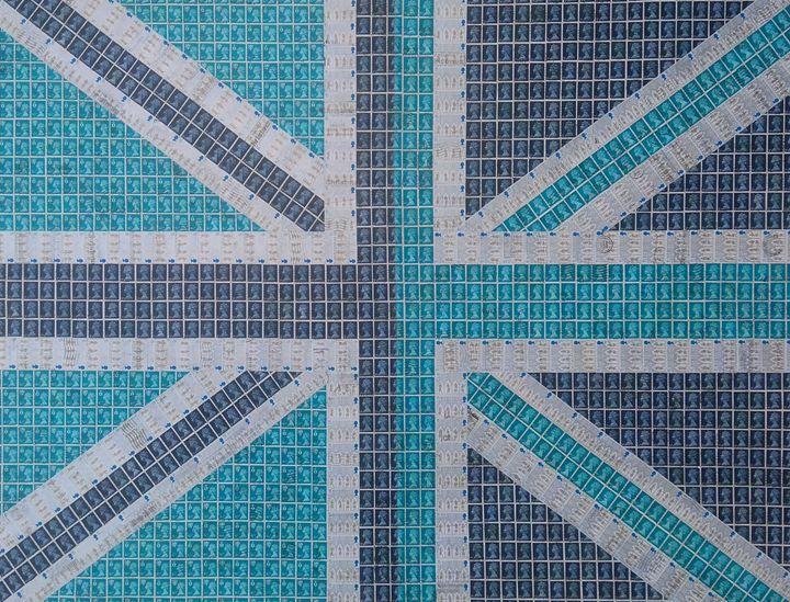 Blue Union Jack - Cocksoup Art