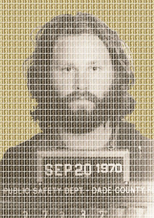 Jim Morrison Mug Shot - Gold - Cocksoup Art