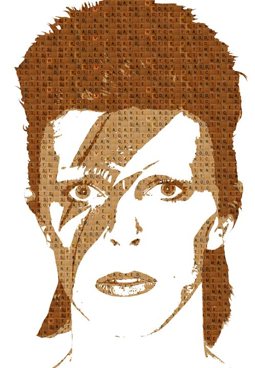 Scrabble Aladdin Sane - Cocksoup Art