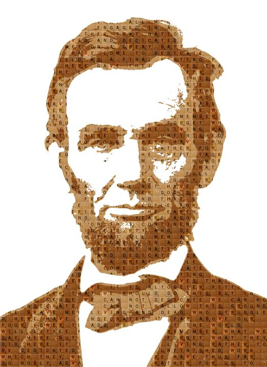 Scrabble Abraham Lincoln - Cocksoup Art