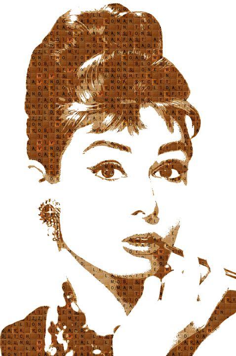 Scrabble Audrey Hepburn - Cocksoup Art