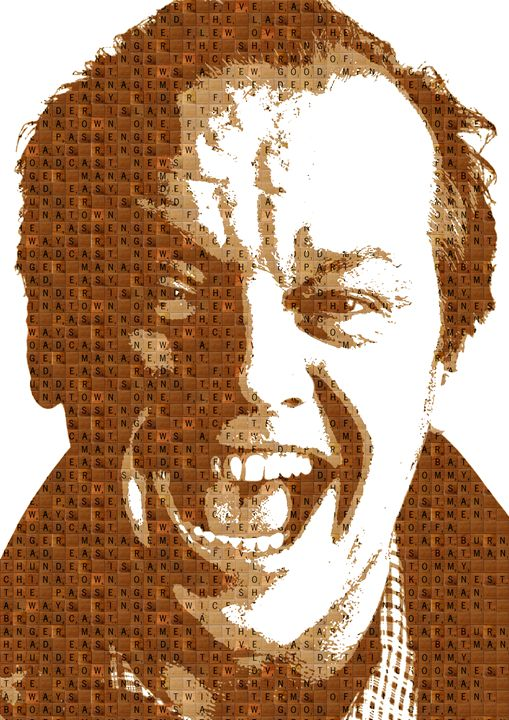 Scrabble Jack Nicholson - Cocksoup Art