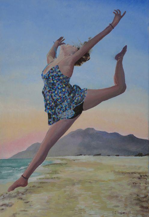 Dancing on the beach - Cocksoup Art