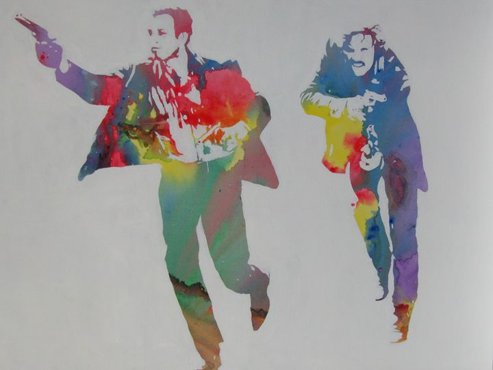 Technicolour Butch and Sundance - Cocksoup Art