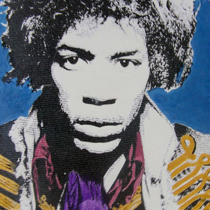 Literally Jimi Hendrix - Cocksoup Art