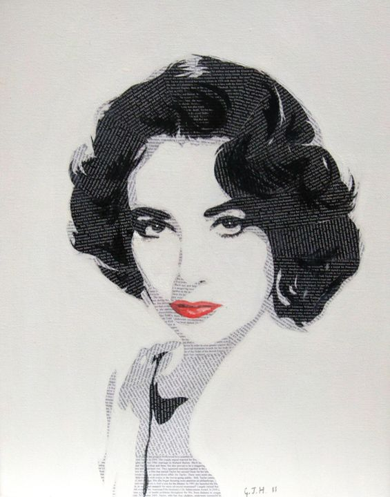 Literally Elizabeth Taylor - Cocksoup Art