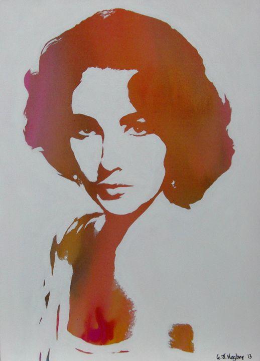 Technicolour Elizabeth Taylor - Cocksoup Art