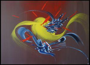 Peinture abstraite Abondance