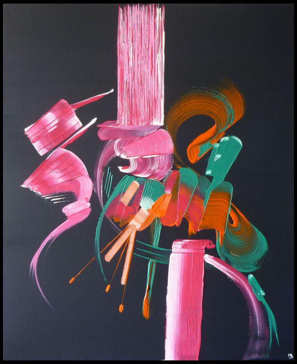 Peinture abstraite Bleu nuit - Martine Belfodil |paints made hands