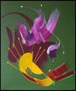 Peinture abstraite Le messager
