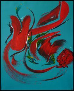 Peinture abstraite Ile aux oiseaux