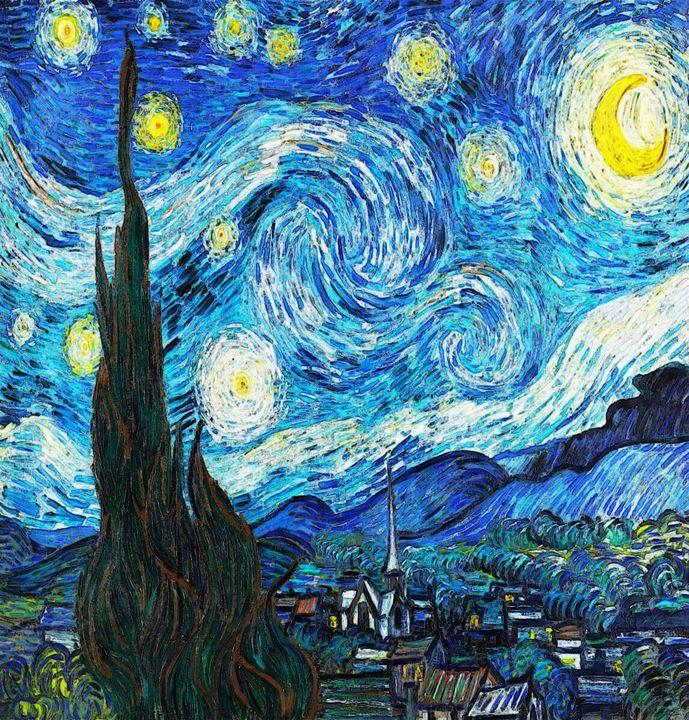 The Starry Night -- Vincent van Gogh - Art4u2