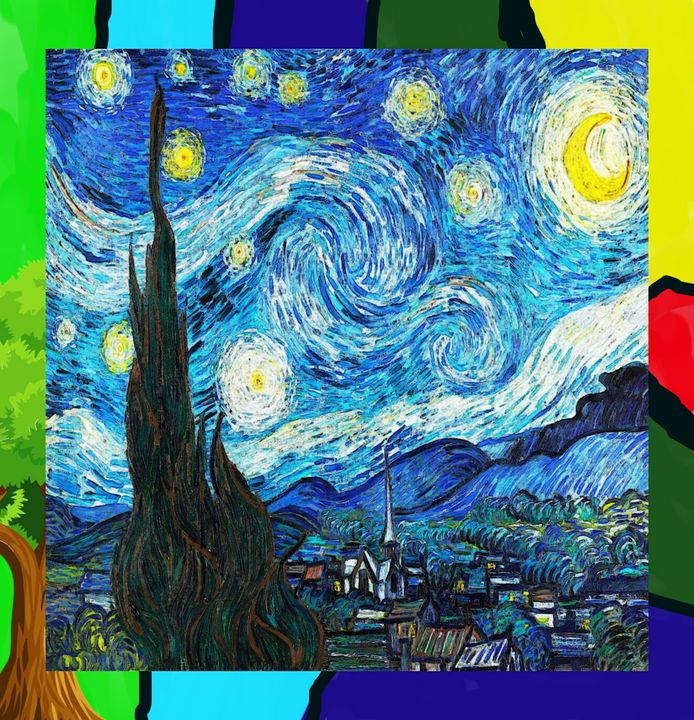 The Starry Night -- In Color - Art4u2