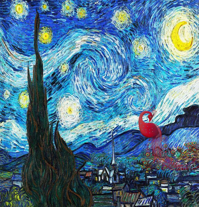The Starry Night -- Peacock - Art4u2